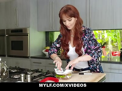MYLF - Redhead Milf Gives Blowjob To Will not hear of Chunky Dick Stepson