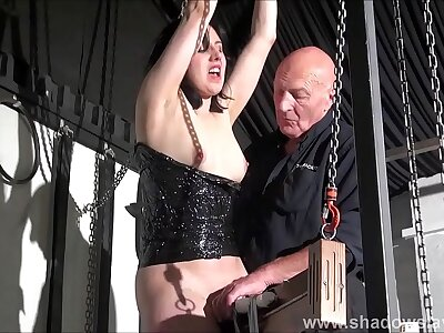 B mount up enslavement and screaming sex toys orgasm of destined tiro underling Objectivity Calliaro in hardcore BDSM session