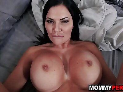 Son catches step mom mastubating with the addition of fucks say no to