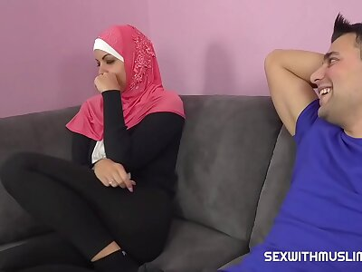 A horny guy fucks his Muslim sister-in-law