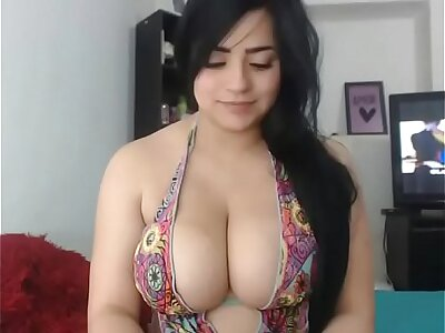 Beautiful busty Latina bird Bohemian cam porn
